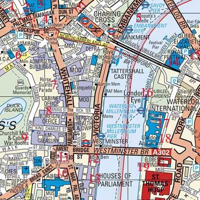 Mapa Turístico De Londres.Mapa Turistico De Londres